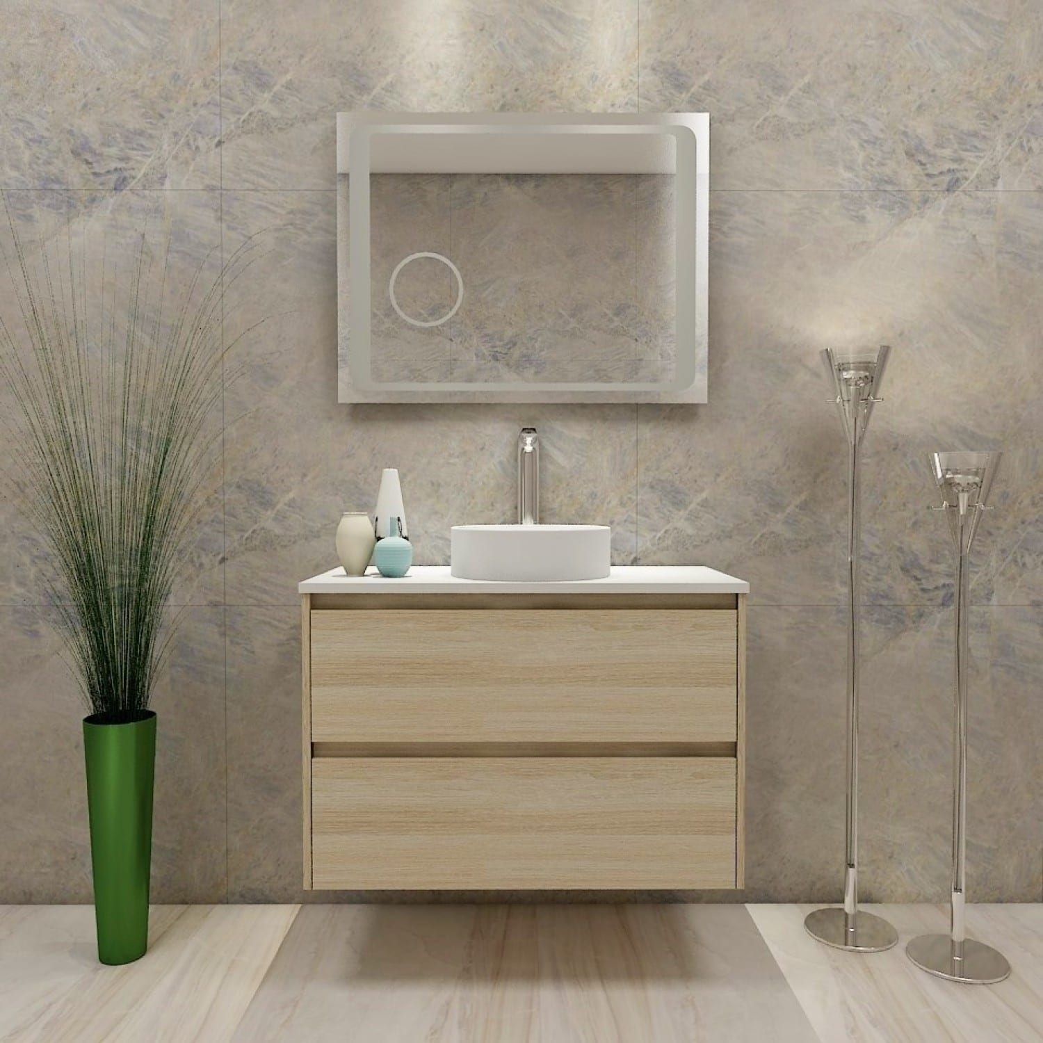 Britney 900 Vanity in Oak