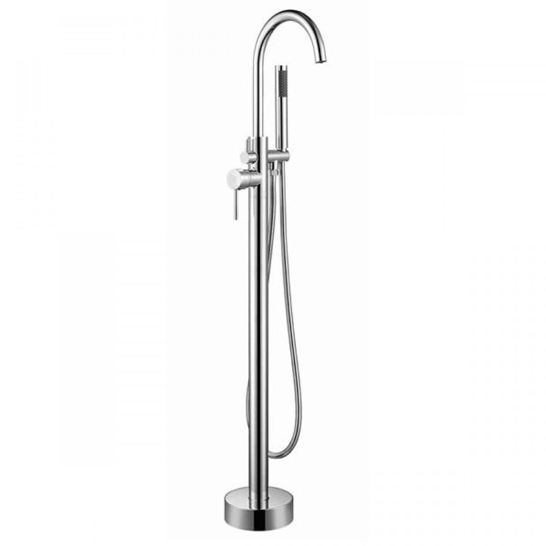 Round Freestanding Bath Mixer with Hand Shower