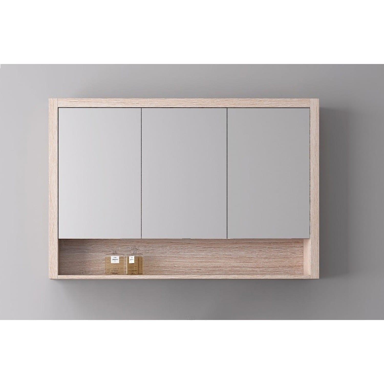 Britney 1200 Mirror Cabinet in Oak