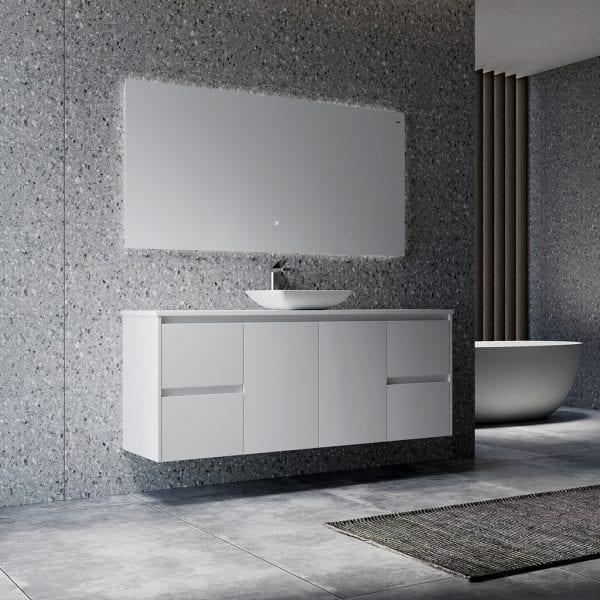 Shirly 1500 Vanity in White 3
