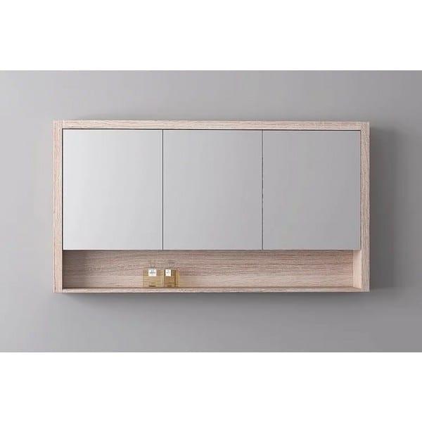 Britney 1500 Mirror Cabinet in Oak