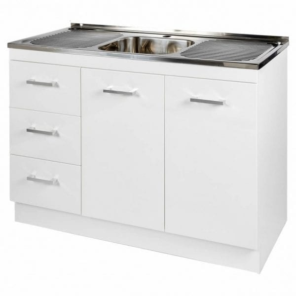 1200mm Base Unit with Sink 2