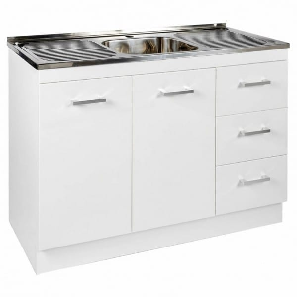 1200mm Base Unit with Sink 1
