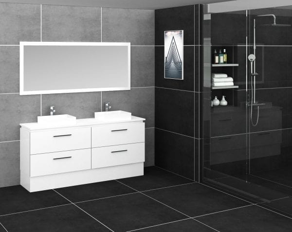 Britney Vanity 1800mm in White with Double Basin 3