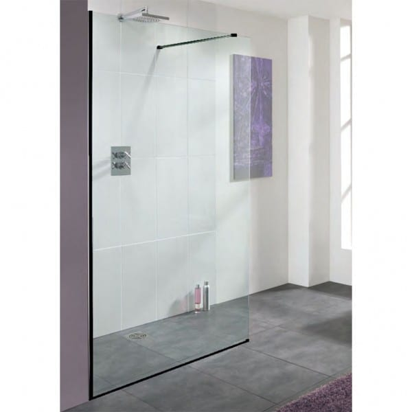 Vbathroom - shower panel with black frame