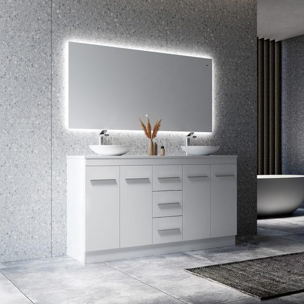 Madison 1500 Freestanding Bathroom Vanity with Double Basin 1