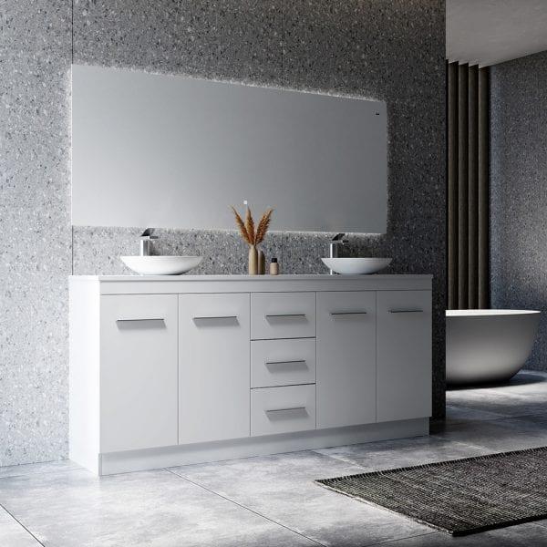 Madison 1800 Freestanding Bathroom Vanity with Double Basin 1