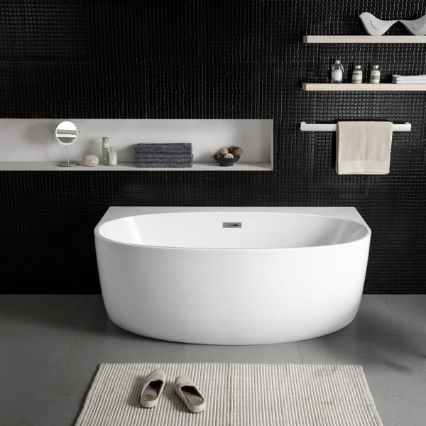 attached bathtub