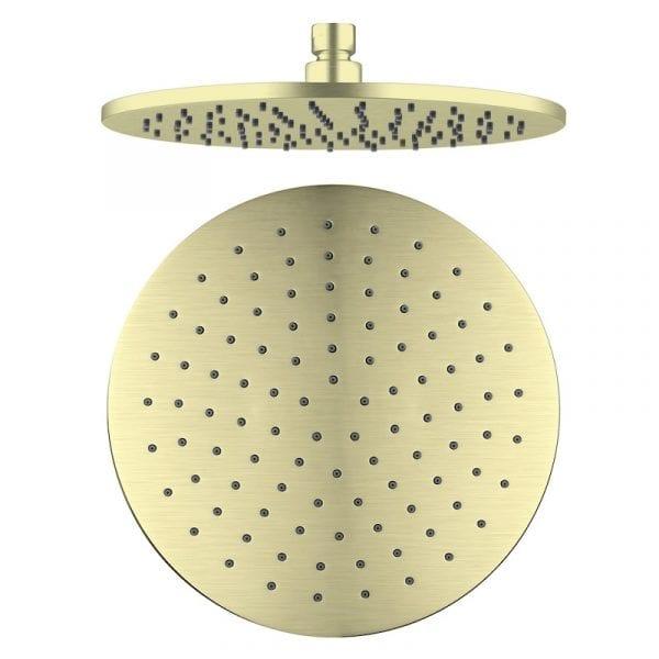 NERO Round Shower Head Brass 250mm 2