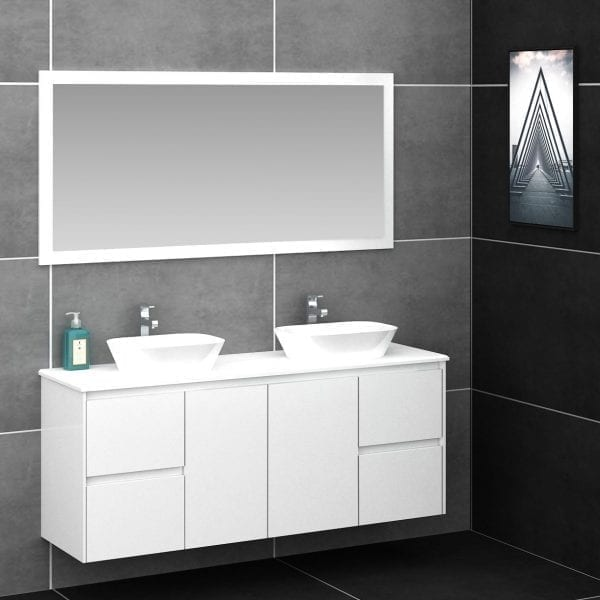 Shirly 1500 Vanity in White 1