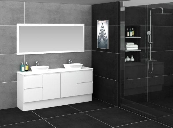 Shirly 1800 Vanity in White 2