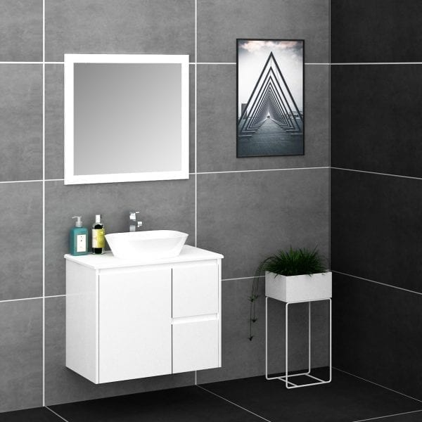 Shirly 750 Vanity in White 1