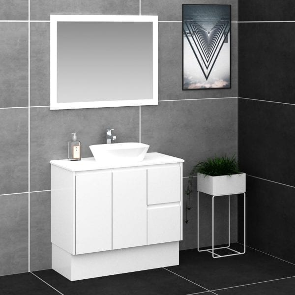 Shirly 900 Vanity in White 2
