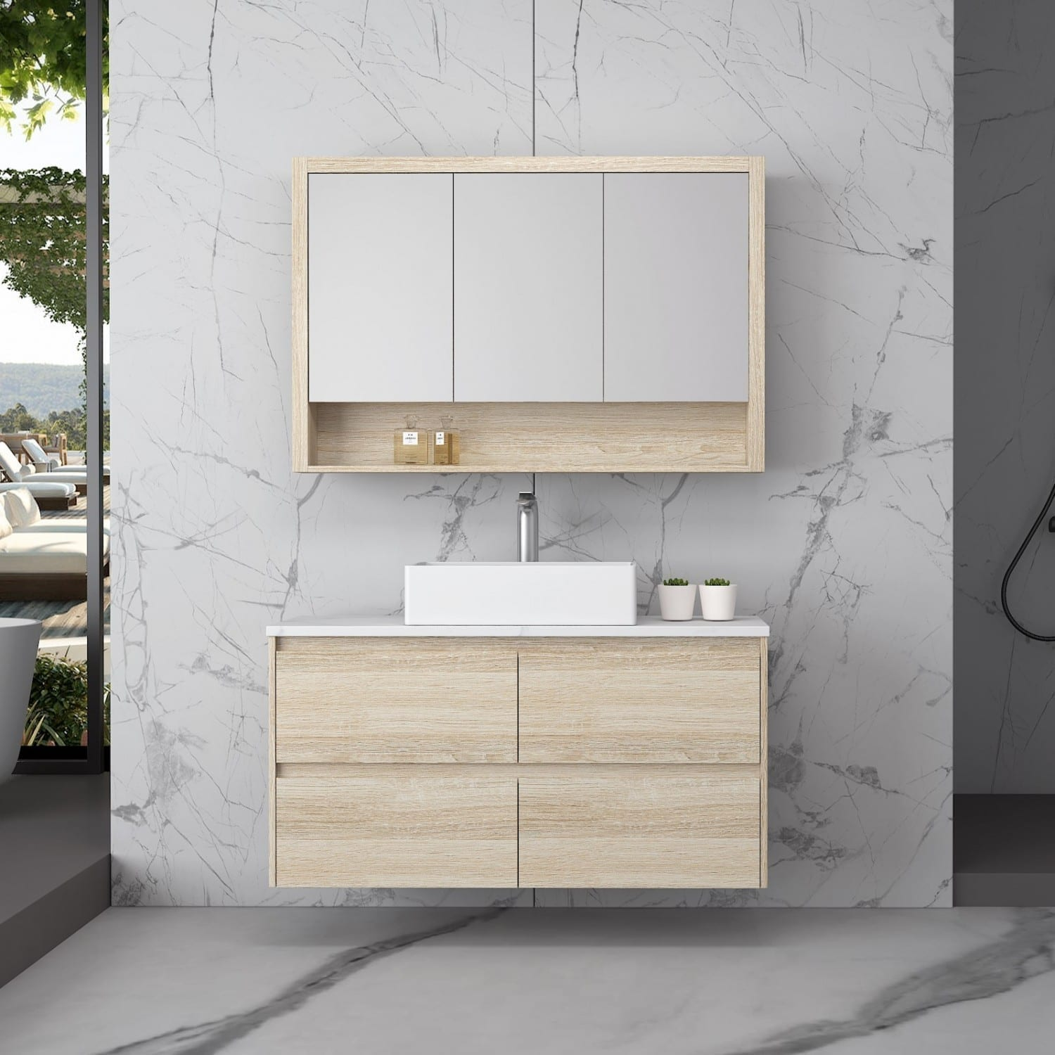 Britney Vanity 1200mm in Oak - front