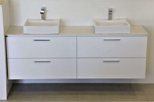 Britney Vanity 1800mm in White with Double Basin 1