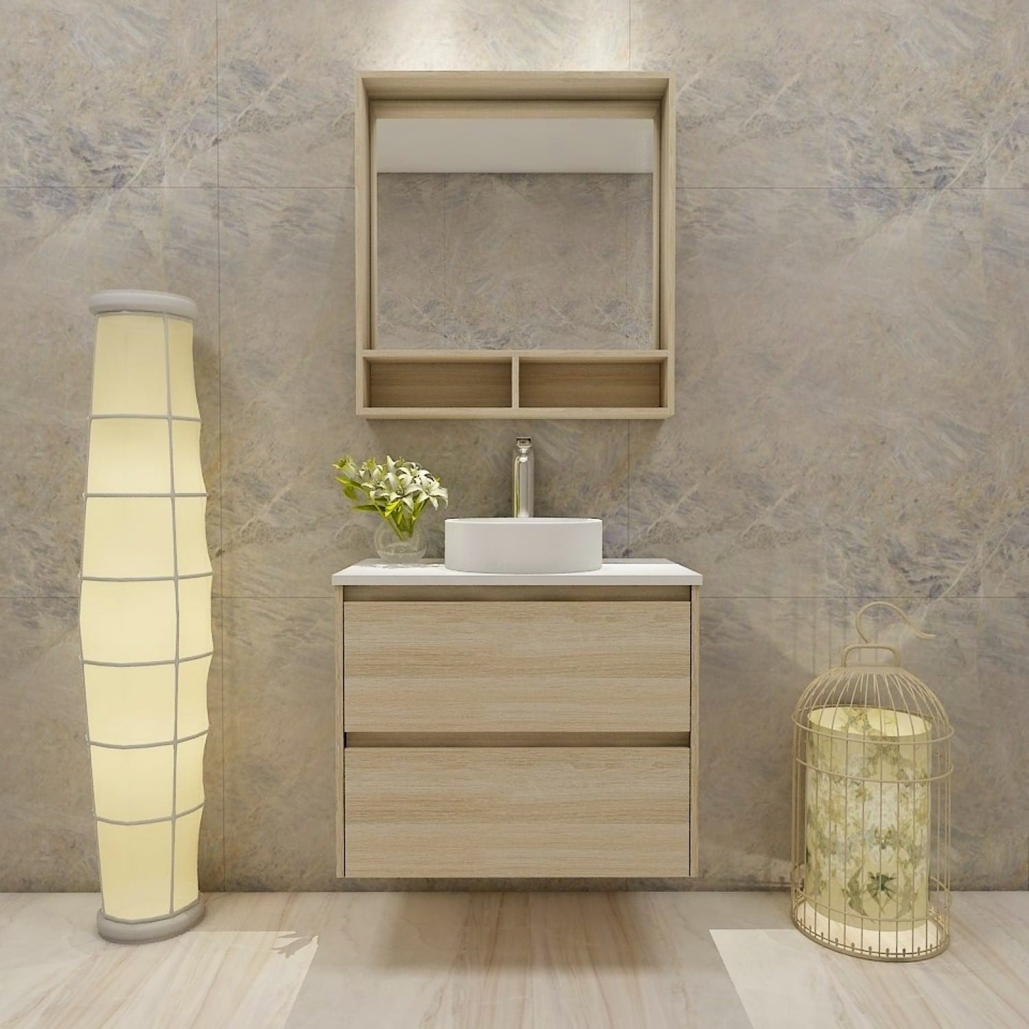 Britney 750 Vanity in Oak