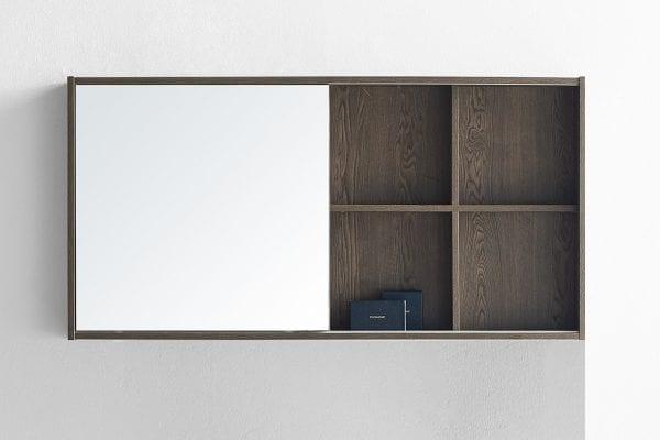 Whitney 1200 Mirror Cabinet in Charcoal Oak 1