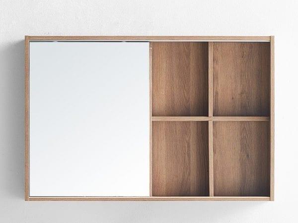 Whitney 900 Mirror Cabinet in Vintage Oak