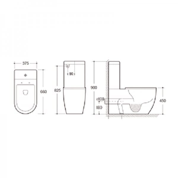 KDK 027 Toilet with Raised Height Pan 2
