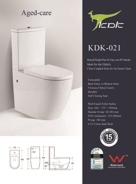 KDK 027 Toilet with Raised Height Pan 1