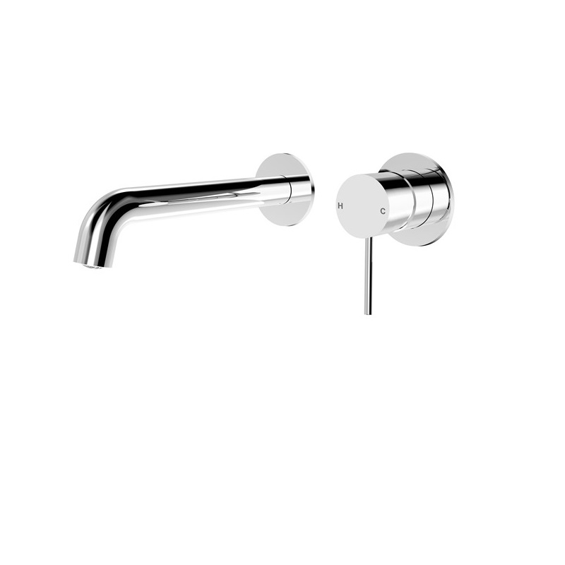 Mecca Wall Basin Mixer with Separate Back Plate