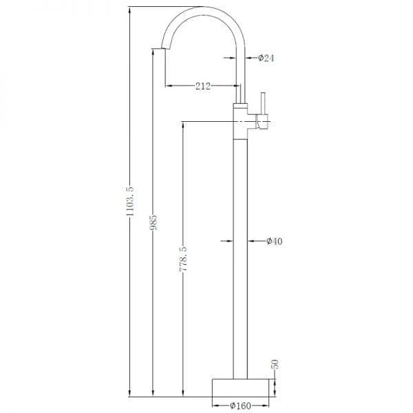 Dolce Freestanding Bath Mixer 2