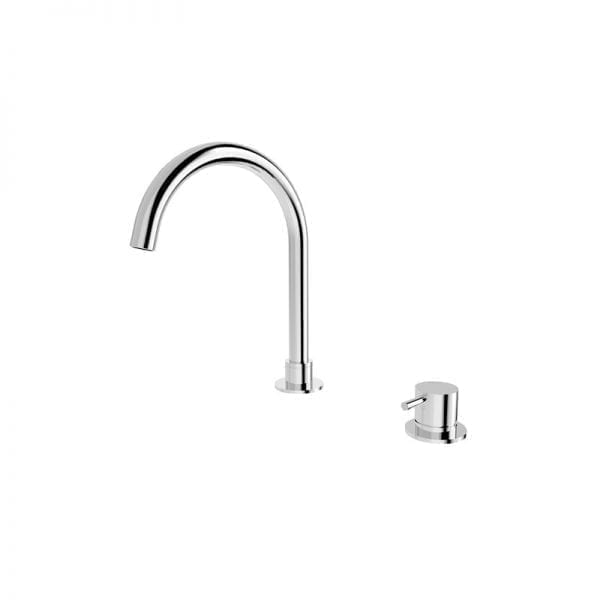 Mecca Hob Mounted Basin Mixer and Spout (Round) 1