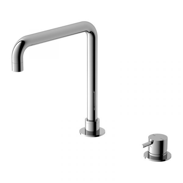 Mecca Hob Mounted Basin Mixer and Spout (Square) 1