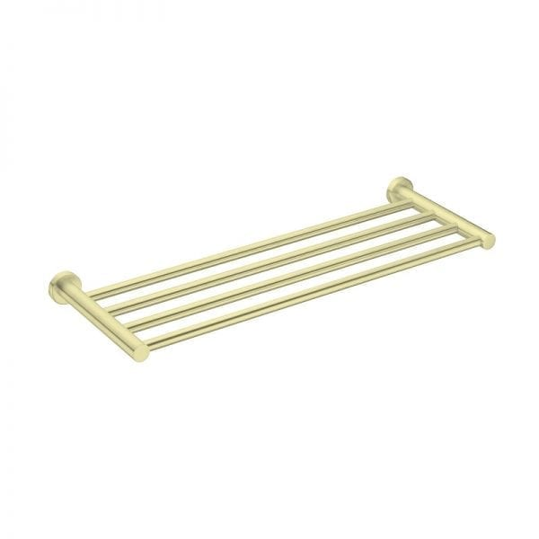 towel rack - golden brush