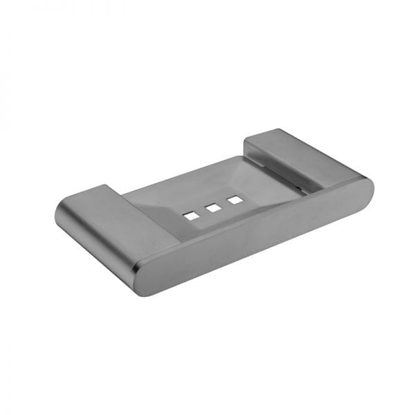 soap dish holder in metal grey