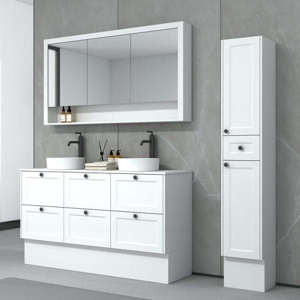New Hampton 1500 Doube Basin Matt White Freestanding