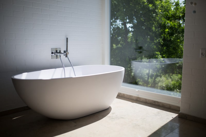 freestanding bath - subway tiles for your bathroom