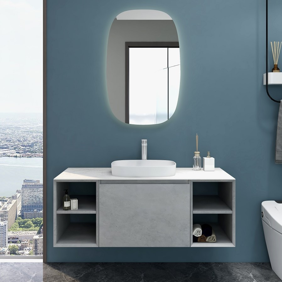 Inalco 1200 Vanity in Cement Grey Single Basin