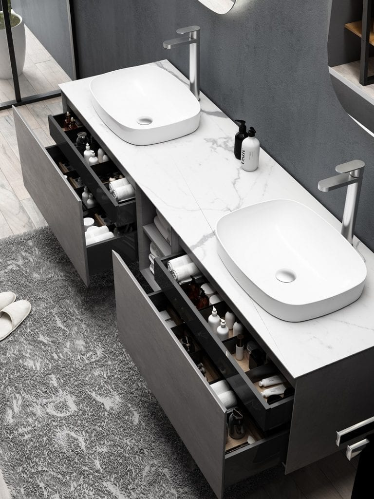 Inalco - black Bathroom Vanity 1900mm