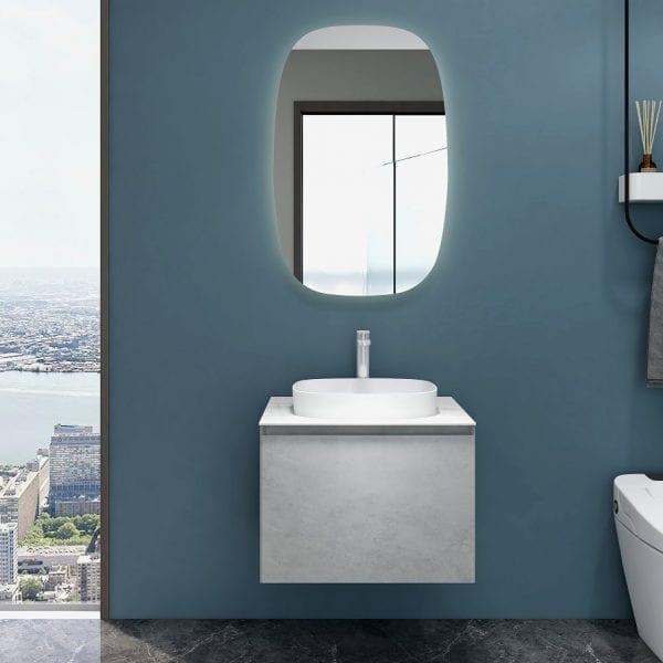 Inalco - Grey Bathroom Vanity 600mm