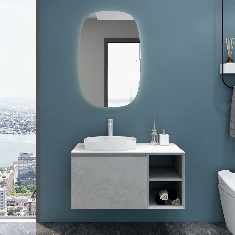 Inalco 900 Vanity in Cement Grey