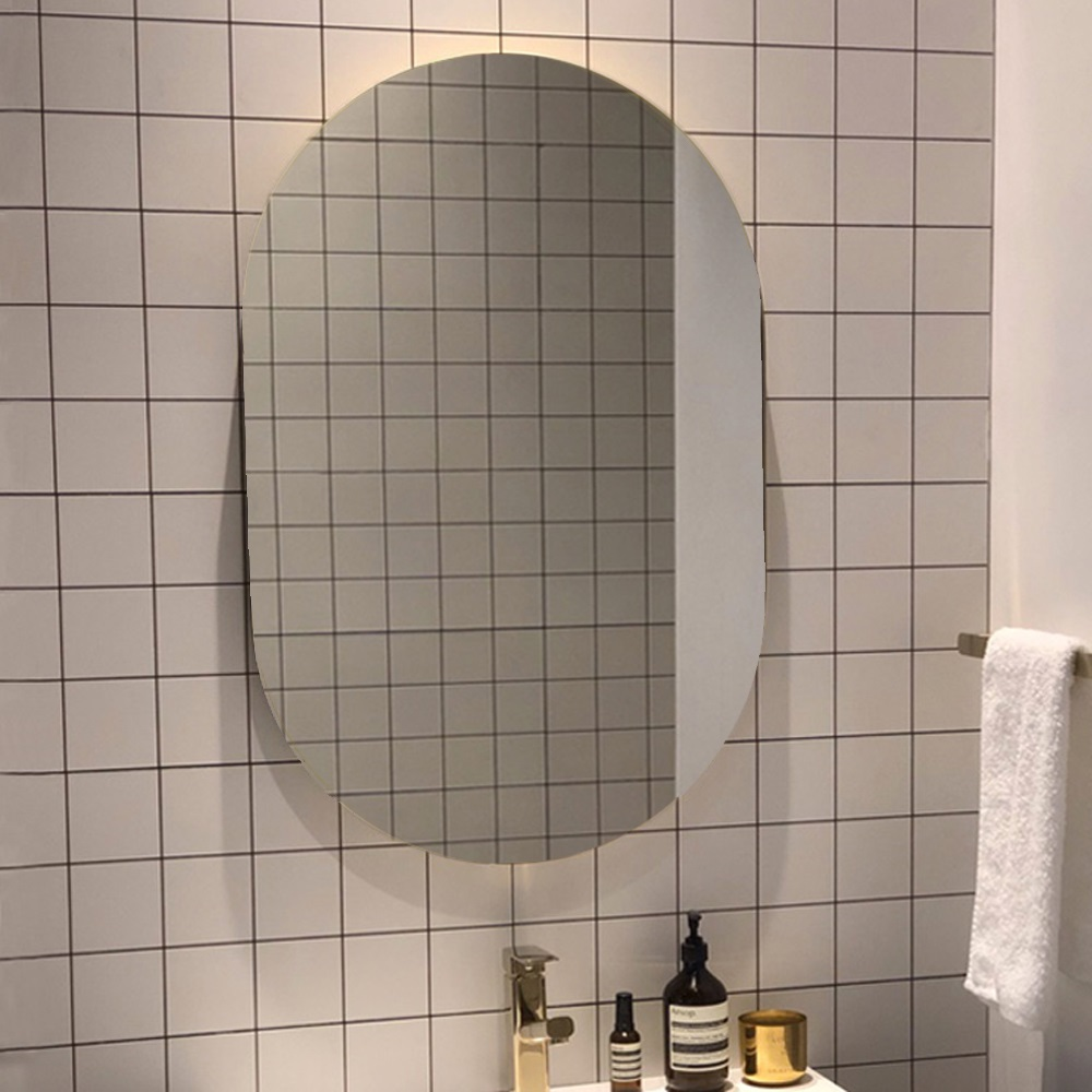 Oval Pencil Edge Bathroom Mirror