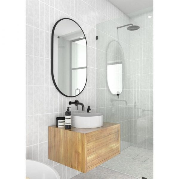 black glass warehouse vanity mirror - small floating bathroom vanity