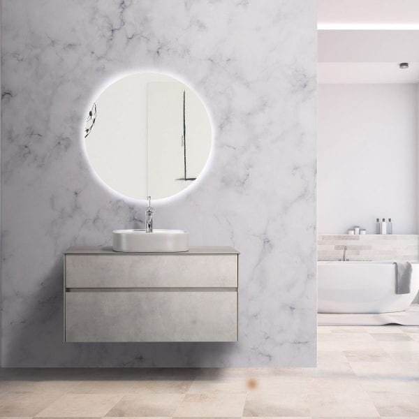 Lamina Vanity in cement - 1000mm vanity