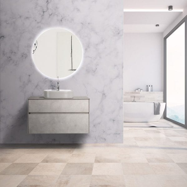 Lamina Vanity in cement grey - 900mm vanity