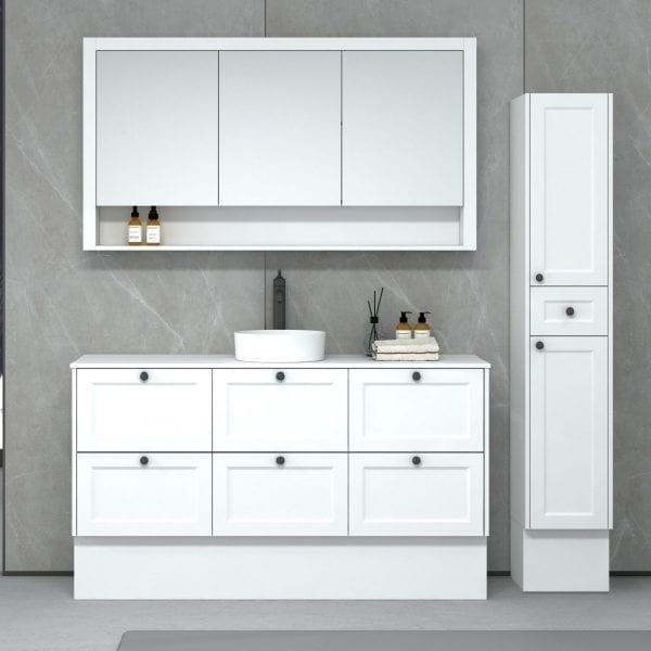New Hampton 1500 matt white Freestanding