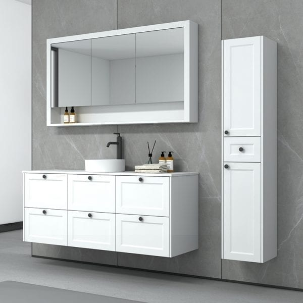 New Hampton 1500 Single Basin Matt White Wall Mounted