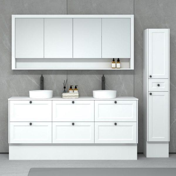 New Hampton 1800 matt white Freestanding