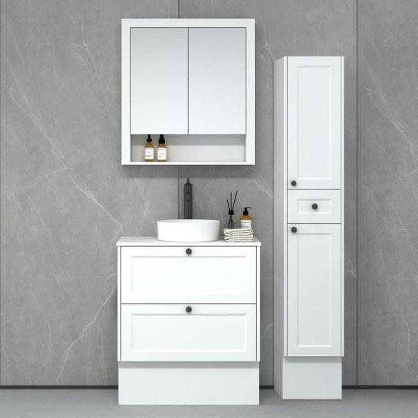 New Hampton 750 matt white Freestanding