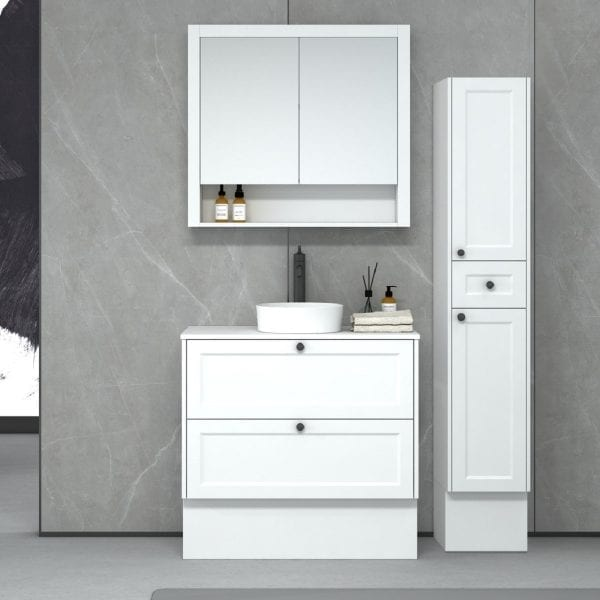 New Hampton 900 matt white Freestanding
