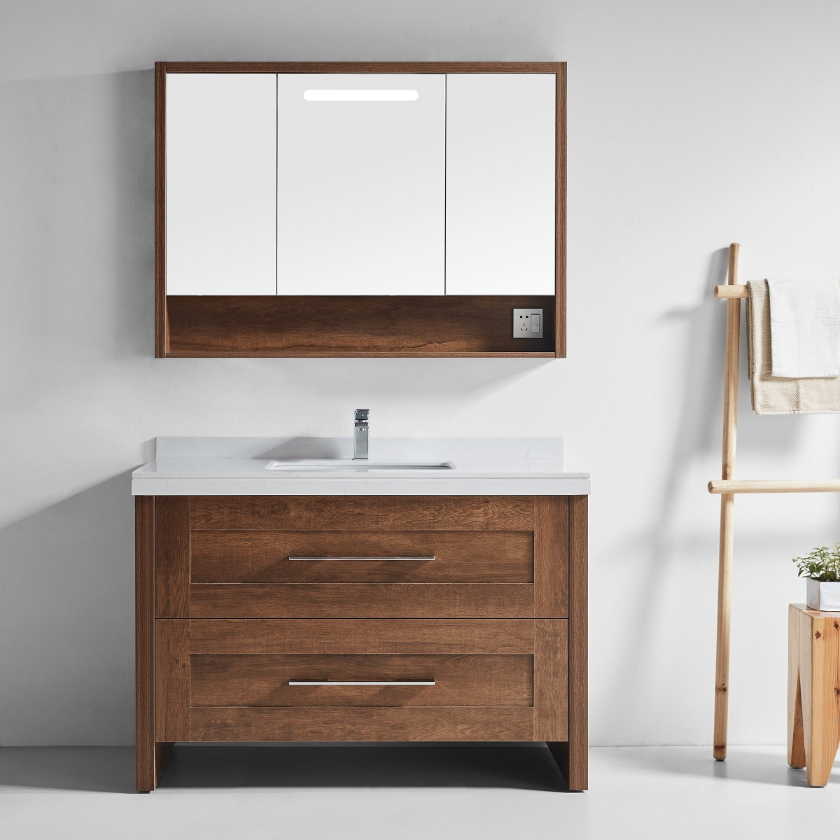 Malibu 1200 vanity in walnut