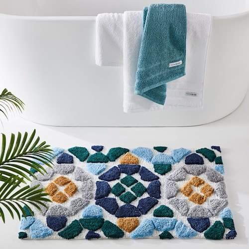 Moroccan bath mat by Adairs