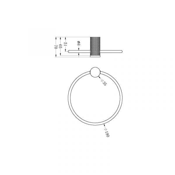 NERO Opal Hand Towel Ring 1