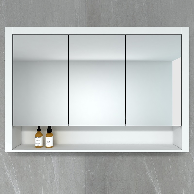 Hampton 1200 Mirror Cabinet in Matt White