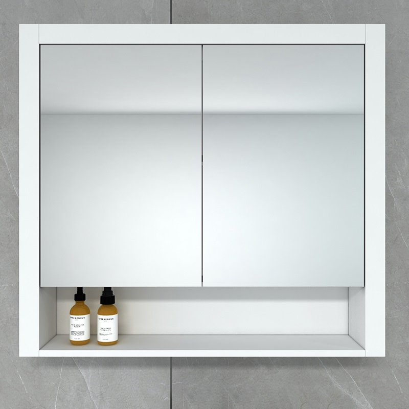 Hampton 900 Mirror Cabinet in Matt White